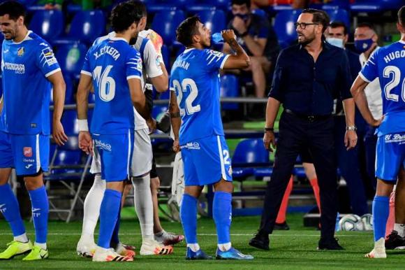 Damián Suárez en el Getafe-Real Sociedad. Foto: AFP.