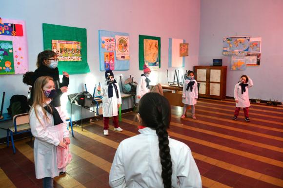 Retorno a clases en liceos y escuelas públicas de Uruguay. Foto: Francisco Flores