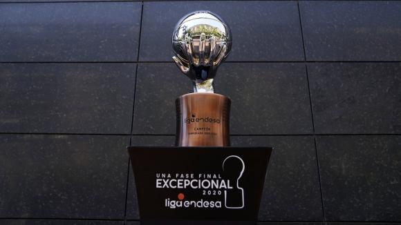La copa de la Liga ACB de España. Foto: @ACBCOM.