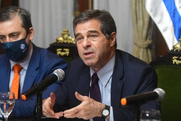 Ernesto Talvi, este martes en conferencia de prensa. Foto: Francisco Flores