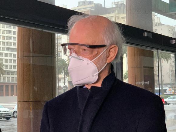 Juan Carlos López Mena tras reunión con Luis Lacalle Pou este martes. Foto: Pablo S. Fernández.