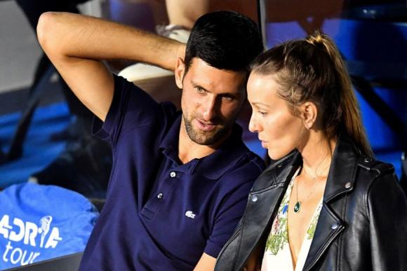 Djokovic y su esposa Jelena dieron resultado negativo en el test de coronavirus