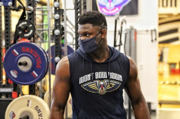 Zion Williams y su gran cambio físico