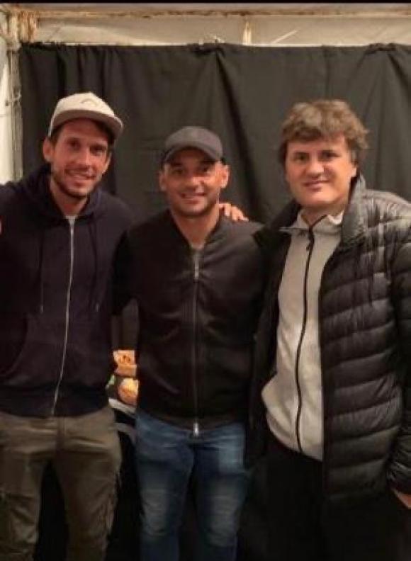 Gastón Pagano, César Pereyra y Ciro Martínez.