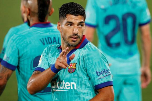 Luis Suárez celebrando su gol ante Villarreal. Foto: Reuters.