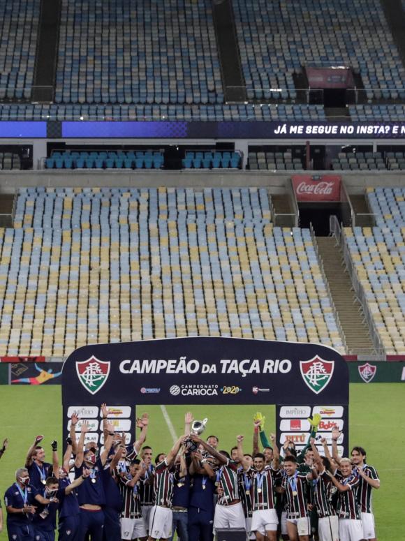 Fluminense campeón de la Taça Río en Maracaná. Foto: EFE.