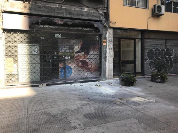 Lugar donde ocurrió el incendio este jueves. Foto: Fernando Ponzetto