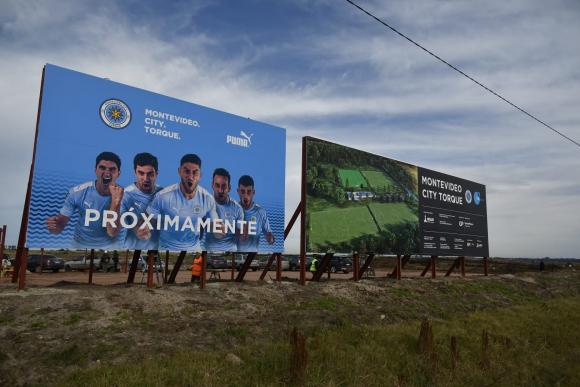 Las obras de la Montevideo City Academy en el Camino Los Aromos. Foto: Fernando Ponzetto.