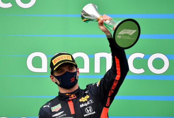 """Verstappen: """"Pensaba no poder salir, así que el segundo es como una victoria"""". Foto: EFE"""