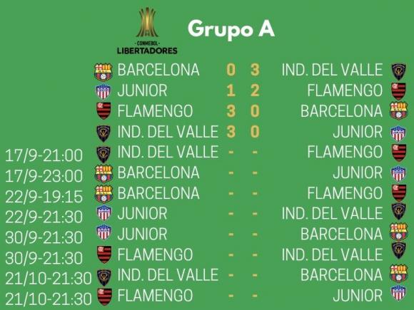 Grupo A de la Copa Libertadores 2020.