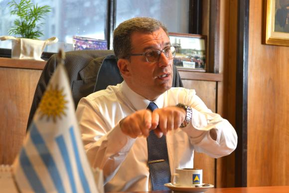 Alejandro Stipanicic, presidente de Ancap. Foto: Leonardo Mainé
