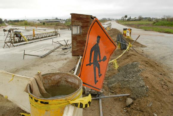 Trabajos viales en rutas uruguayas. Foto: Archivo El País