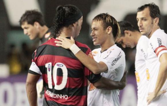 Neymar y Ronaldinho. Foto: Twitter.