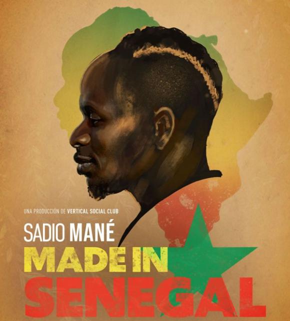 El afiche promocional del documental de Sadio Mané