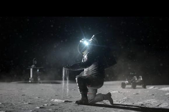 Polvo lunar. Foto: NASA.