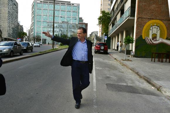 Manini Ríos concurre a declarar en juicio por el caso Gavazzo. Foto: Fernando Ponzetto (archivo)