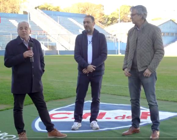 José Fuentes, Álvaro Recoba y José Decurnex