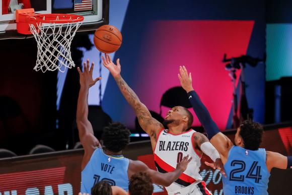 Portland Trailblazers venció a Memphis Grizzlies en la NBA. Foto: EFE.