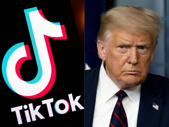 Trump anunció que prohibirá a TikTok. Foto: AFP