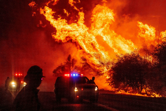 Incendios en California. Foto: AFP