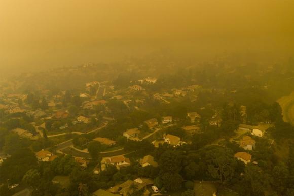 Incendios en Estados Unidos. Foto: AFP.