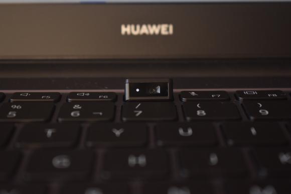 La cámara oculta de la Matebook D14 de Huawei. Foto: Mariana Malek