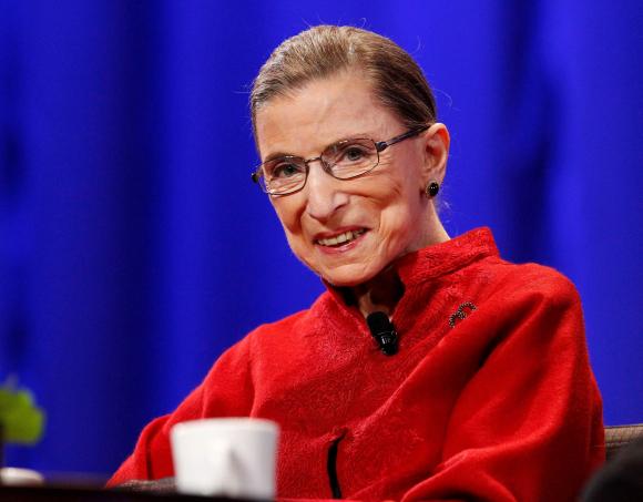 Ruth Bader Ginsburg en California en 2010. Foto: Reuters