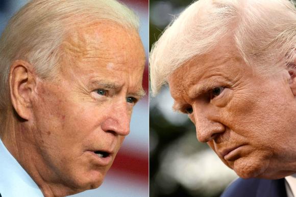 Biden aventaja a Trump en intención de voto. Foto: AFP