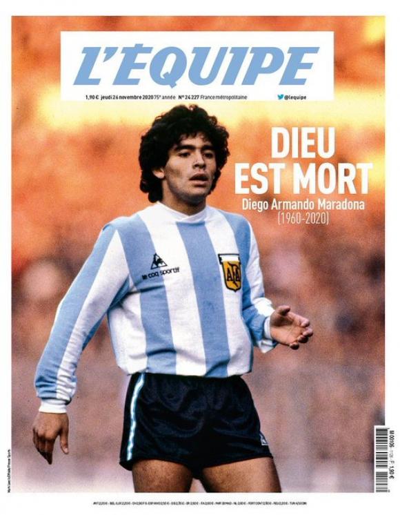 La muerte de Maradona ocupa las tapas de los principales diarios del mundo - 25/11/2020 - EL PAÍS Uruguay