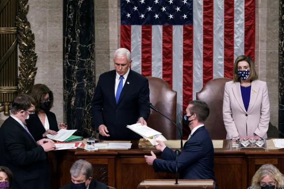 La confirmación de Biden como presidente de Estados Unidos. Foto: Reuters