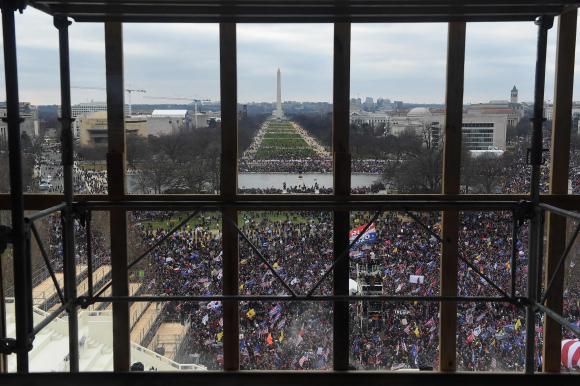 Manifestantes pro-Trump. Foto: AFP