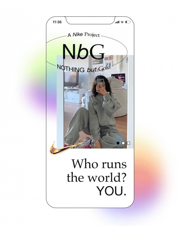 NbG.  The Nike application wants to be a meeting channel for influencers with a taste for sports.