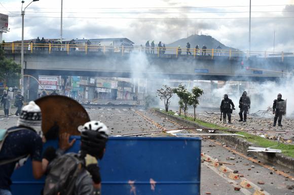 Manifestaciones en Colombia. Foto: AFP