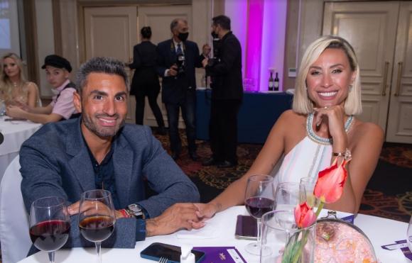 Giannina junto a su novio Martín.