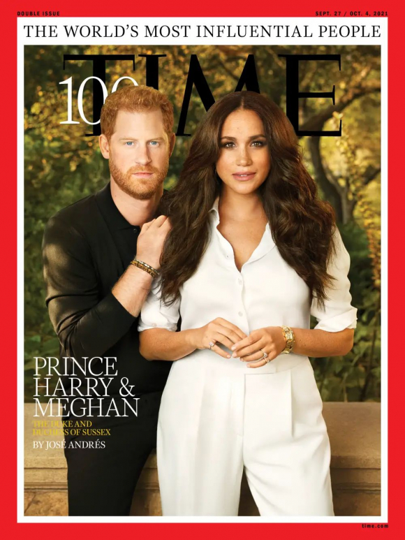 Meghan and Harry on the cover of Time magazine