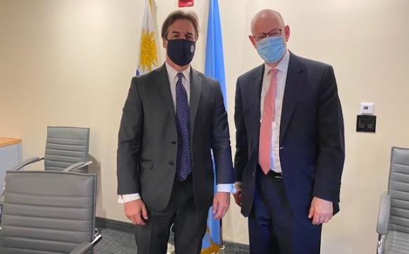 """CEO de la B'nai B'rith tras encuentro con Lacalle en NY: """"Fue una excelente reunión"""" - Información - 20/09/2021 - EL PAÍS Uruguay"""