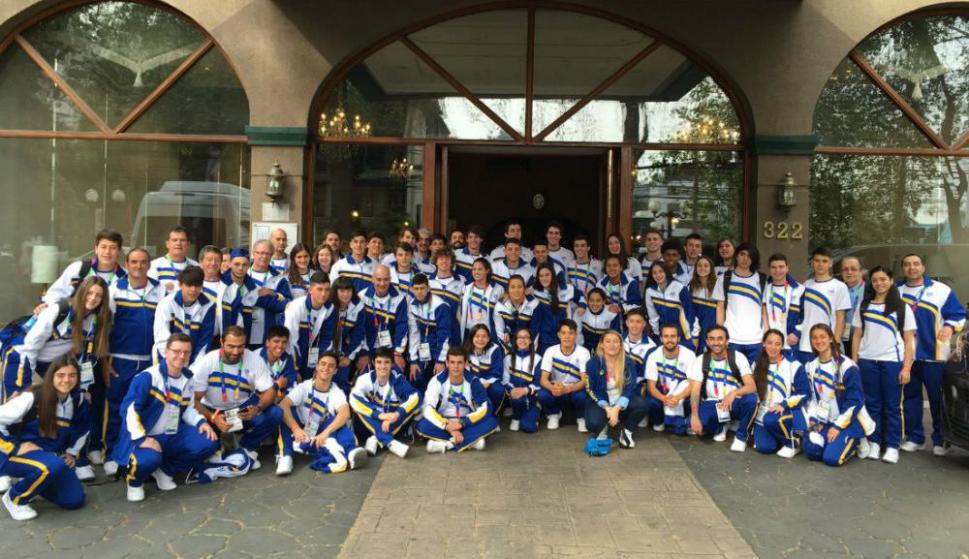 La delegación de Uruguay en los Juegos Suramericanos de la Juventud.