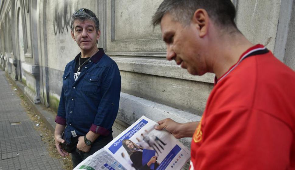 Richard y Jorge forman parte de una página de Facebook que lucha contra la discriminación por edad. Foto: F. Ponzetto