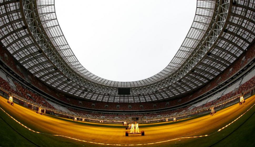 La vista interior del Estadio Olímpico Luzhnikí de Rusia 2018. Foto: Reuters
