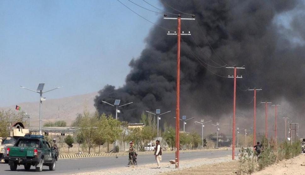 La ciudad de Gardez, luego del atentado. Foto: Reuters