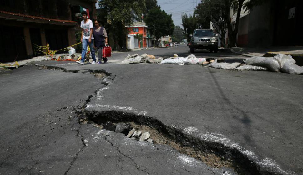 Lo que dejó el terremoto en México, en el barrio Colonia del Mar. Foto: Reuters.