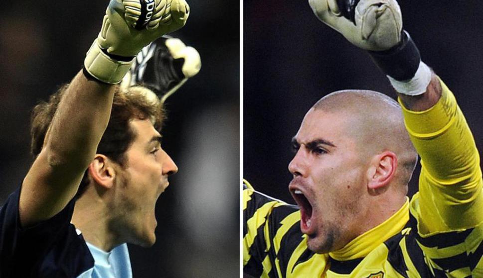 Iker Casillas y Víctor Valdés. Foto: Archivo El País.