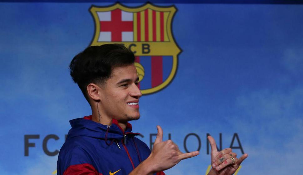 Philippe Coutinho en Barcelona. Foto: Reuters