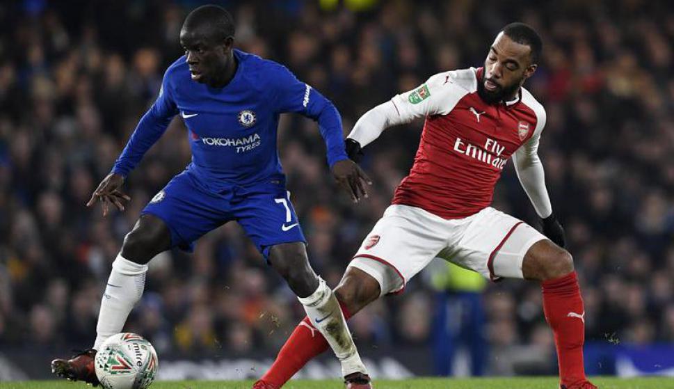 Chelsea ante el Arsenal. Foto: EFE