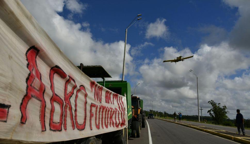 Protestas de rurales en Lavalleja. Foto: Fernando Ponzetto