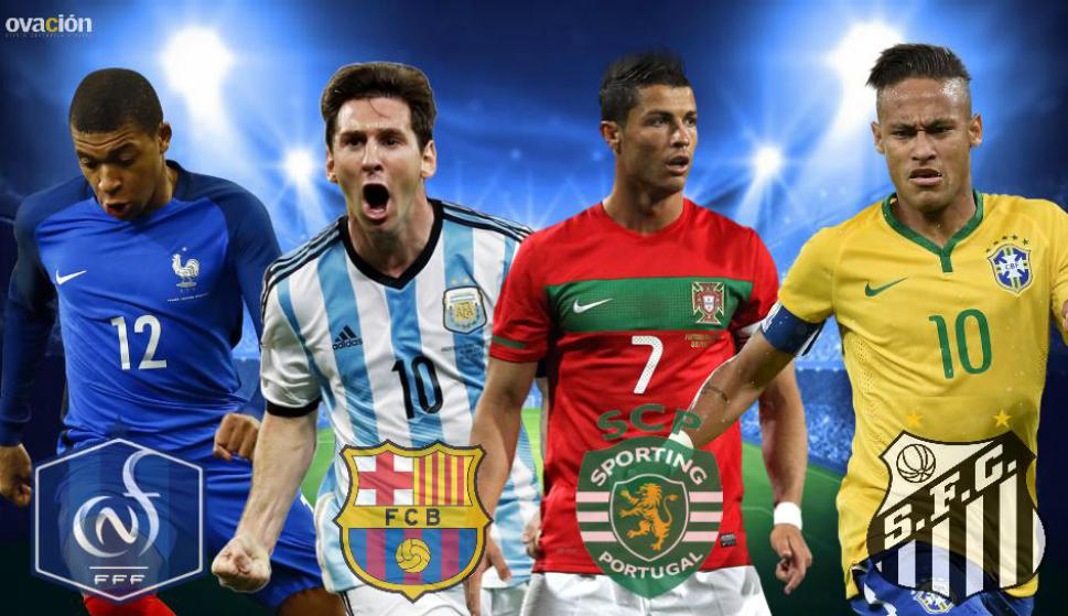 La mejor cantera (Mbappe, Messi, Cristiano, Neymar)