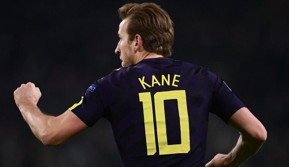 Harry Kane festejando el gol del Tottenham. Foto: AFP