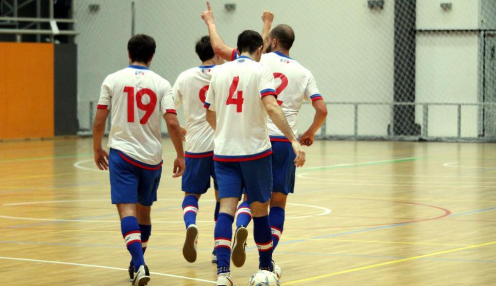 Nacional goleó en el clásico de futsal. Foto: Matías Pérez