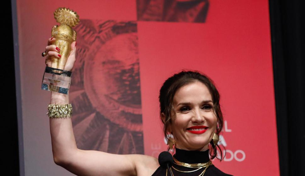 Natalia Oreiro fue homenajeada en el Festival de Cine de Gramado.