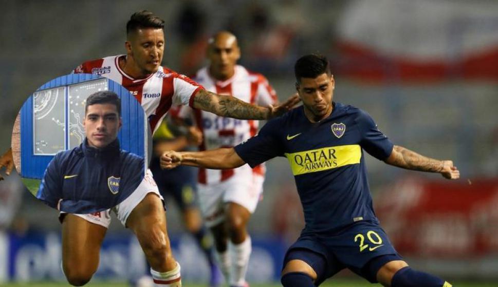 Olaza hace magia para levantar la pelota. Fotos: Lucas Olaza / Boca Juniors (Twitter)